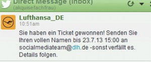 Fussballticket FC Bayern gewonnen 072013