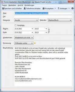 Kalender als CRM nutzen Juli 2013