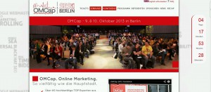OMCap Kongress 2013 in Berlin, der Online Marketing Kongress