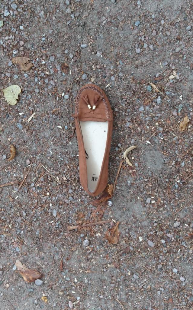 Ein einzelner Schuh